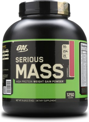 Optimum Nutrition Serious Mass Weight Gainers/Mass Gainers(2.72 kg, Strawberry)  available at flipkart for Rs.2780