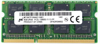micron Essential DDR3 8 GB (Dual Channel) Laptop DDR3 (Micron)(Green)