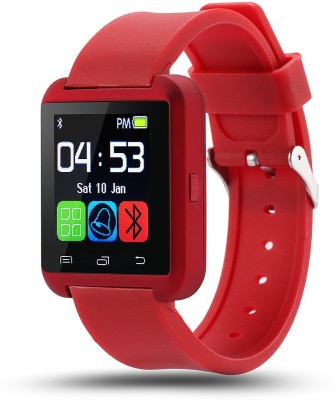 Medulla U8 Red Smartwatch(Red Strap Regular)
