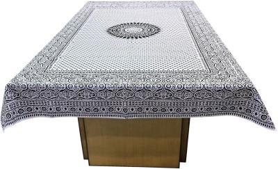 Miyanbazaz Textiles Printed 6 Seater Table Cover(Black, Cotton) at flipkart