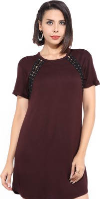 Forever 21 Women A-line Brown Dress