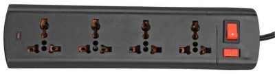 S.Blaze Multi-Colour 4 in 1 ABS Body Mini Power Strip Extension cord with ON / OFF switch and indicator 3-4m lengthy wire 4 A Three Pin Socket  available at flipkart for Rs.180