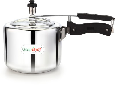 Greenchef Pressure Cooker Inner Lid - Induction Base 5 L Pressure Cooker with Induction Bottom(Aluminium)
