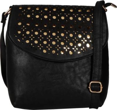 LI LEANE Black Sling Bag at flipkart