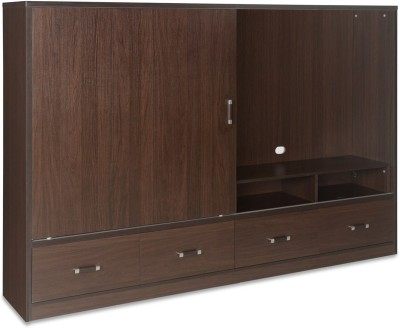 @home by Nilkamal Crosby Engineered Wood TV Entertainment Unit(Finish Color - Walnut)