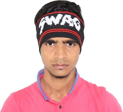 Goodluck Solid Winter Wollen Swag Head Band Cap  available at flipkart for Rs.249