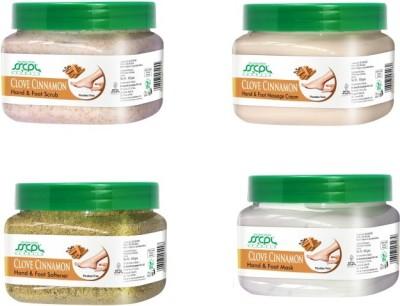 SSCPL Herbals Hand & Foot Clove Cinnamon Spa kit(Set of 4)