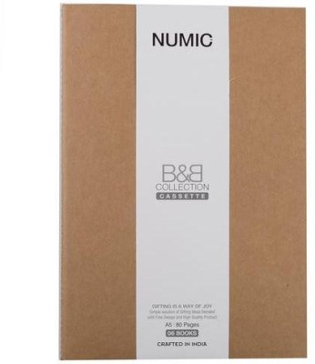 NUMIC Regular Note Book(B & B A5, Brown)  available at flipkart for Rs.59
