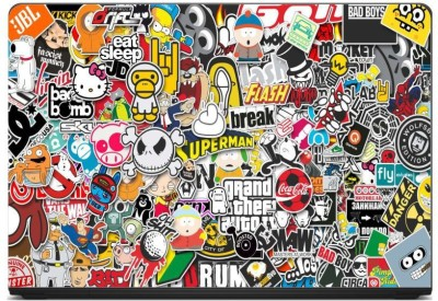 Anweshas Printed on 3M Vinyl, Premium Quality, HD, UV Printed, Laminated, Bubble Free, Scratchproof, Washable, Easy to Install Laptop Skin/Sticker/Vinyl/Cover for 13.1, 13.3, 14.1, 14.4, 15.1, 15.6 inches (Sticker Bomb) vinyl Laptop Decal 15.6