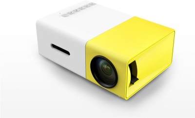 PremiumAV 3D Projector Latest 100 lm LCD Corded Mobiles Portable Projector(Yellow) at flipkart