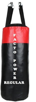 FACTO POWER Regular 5.0 Feet Long, SRF - STANDARD Material, Black and Red Color, Unfilled with Hanging Straps Hanging Bag(5.0, 60 kg)