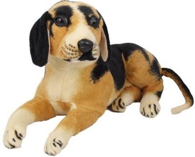 Samayra Toys Dog Stuff Animal   32 cm Brown, Black Samayra Toys Soft Toys