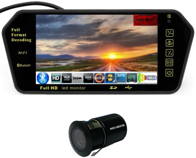 Woodman 7 inch Car Video Monitor with USB, Bluetooth and Car Reaview Camera Black LED(18 cm)
