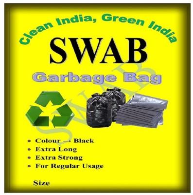 swab Garbage Bag Medium size 19 inch X 21 inch Pack of 06( 180 Bag)(Dustbin Bag/Trash Bag) Medium 6 L Garbage Bag(Pack of 30)