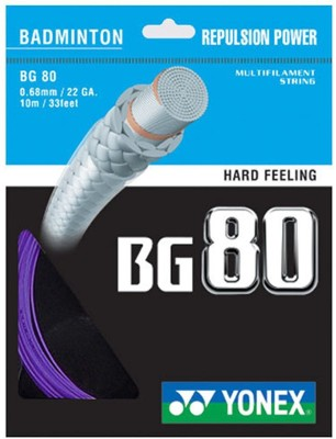 Yonex BG 80 0.68 Badminton String   10 m Purple