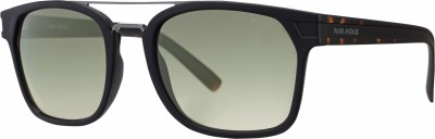 Park Avenue Wayfarer, Retro Square, Spectacle  Sunglasses(Green, Grey)  available at flipkart for Rs.3098