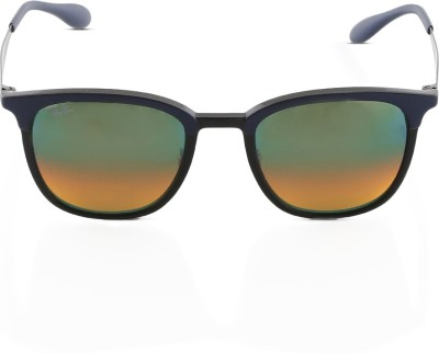 Ray-Ban Retro Square Sunglasses(Silver) at flipkart