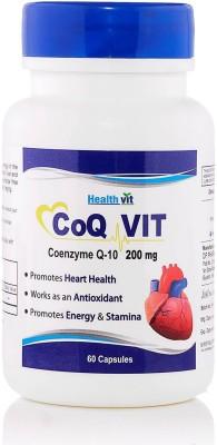 Healthvit CoQ Vit CO-Q 10 Enzyme 200 mg Supplements (60 Capsules)