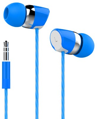 bs power EZ197-Blue Wired Headset with Mic(Blue, In the Ear)