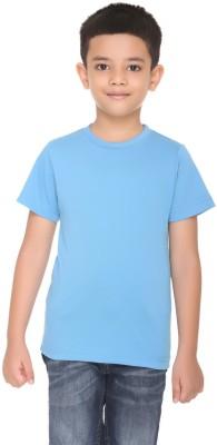 HARBOR N BAY Boys Solid Cotton T Shirt(Light Blue, Pack of 1)