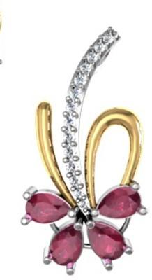 Meenaz Ganpati God Pendant With Chain Cz Gifts Jewellery Set Gold-plated, Brass Cubic Zirconia, Diamond Alloy Pendant