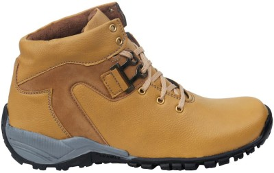Tan Synthetic Leather Shoes Casuals