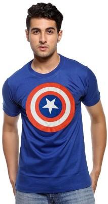Smartees Superhero Men's Round Neck Blue T-Shirt