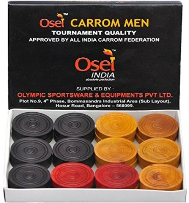 OSEL Wooden Carrom Pawns(Pack of 24)