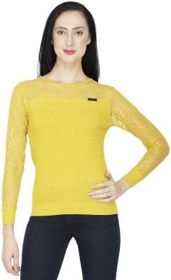 RITU DESIGNS Party Full Sleeve Solid Women Yellow Top