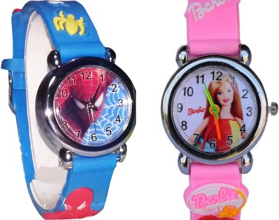 ARIHANT RETAILS Spiderman and Barbie Kids Watch_AR28 (Also best for Birthday gift and return gift for kids) Analog Watch  - For Boys & Girls