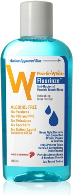 pearlie white Pearlie White Fluorinze Alcohol Free Mouth Rinse 100ml - Mint(100 ml)
