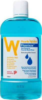 pearlie white Pearlie White Fluorinze Alcohol Free Mouth Rinse 750ml - Mint(750 ml)