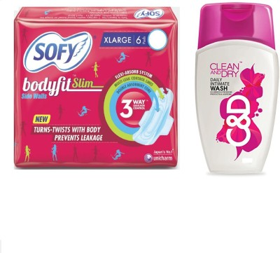sofy Bodyfit Slim, Clean and Dry Intimate Wash(Set of 2)  available at flipkart for Rs.239
