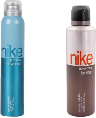 Nike Men & Woman Up Or Down Deo Combo Deodorant Spray  -  For Men & Women(400 ml, Pack of 2)  available at flipkart for Rs.498