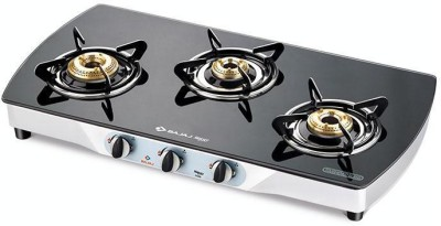 Bajaj Steel Manual Gas Stove(3 Burners)