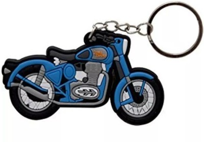 Andride Royal Enfield Bullet Electra Classic Thunderbird Logo Synthetic Rubber Bike Keychain Keyring Key Ring Key Chain Black Blue White Key Chain  available at flipkart for Rs.249