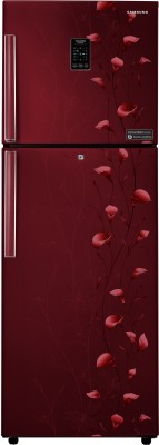 Samsung 253 L Frost Free Double Door 2 Star (2019) Convertible Refrigerator(Tender Lily Red, RT28K3922RZ/HL)