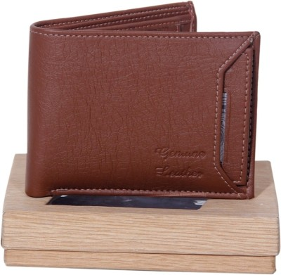 addik Men Brown, Black Artificial Leather Wallet 7 Card Slots