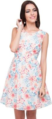 Go India Store Women A-line White Dress