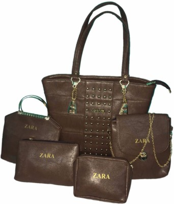 Elegant Shopping Women Brown Messenger Bag at flipkart