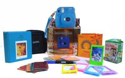 Fujifilm Instax Mini 9 Cobalt Blue Festive Pack Instant Camera(Blue)