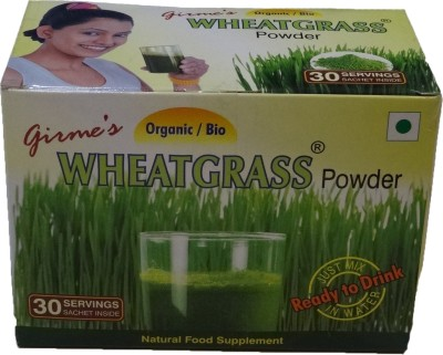 Girme's Organic Wheat Grass Powder - 3gx30 Sachet Pack(90 g)  available at flipkart for Rs.350