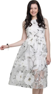 Go India Store Women A-line White Dress