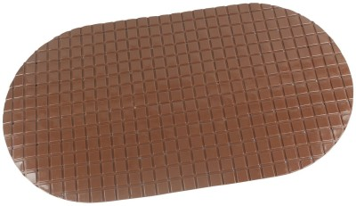 HOKIPO PVC Bathroom Mat(Brown, Medium) at flipkart