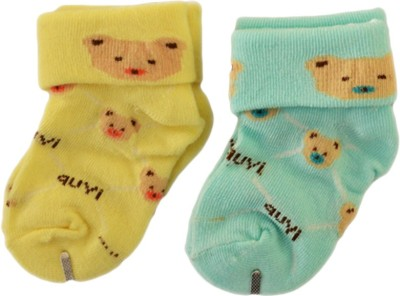 Toys factory Baby Boys & Baby Girls Printed Ankle Length Socks(Pack of 2)