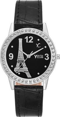 YOUTH CLUB PRS BLK Analog Watch   For Girls YOUTH CLUB Wrist Watches