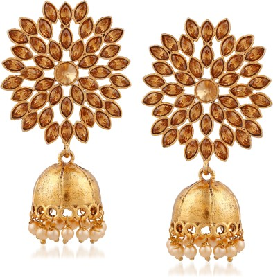 ee8b1c787b7fdc Meenaz Meenaz Jewellery Traditional Gold Plated Kundan Crystal Chandbali  Jhumka Jhumki Earrings for women -162 Cubic Zirconia, Crystal Copper,  Copper, ...