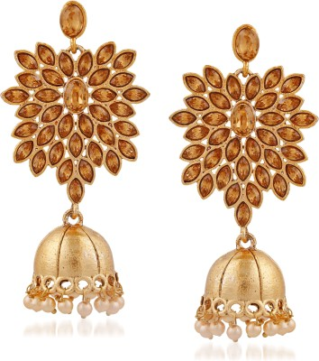 a86f31a576 Meenaz Meenaz Jewellery Traditional Gold Plated Kundan Crystal Chandbali  Jhumka Jhumki Earrings for women Fancy Party