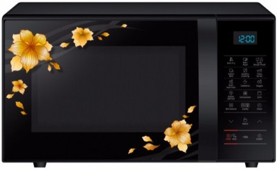Samsung 21 L Convection Microwave Oven(CE78JD-M/TL, Mirror Black)