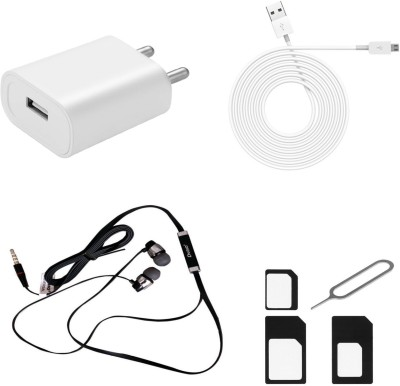 FELICITY Wall Charger Accessory Combo for Asus Zenfone 2 Laser+universal products(MOBILE CHARGER IS WHITE AND OTHER MULTI COLOR)